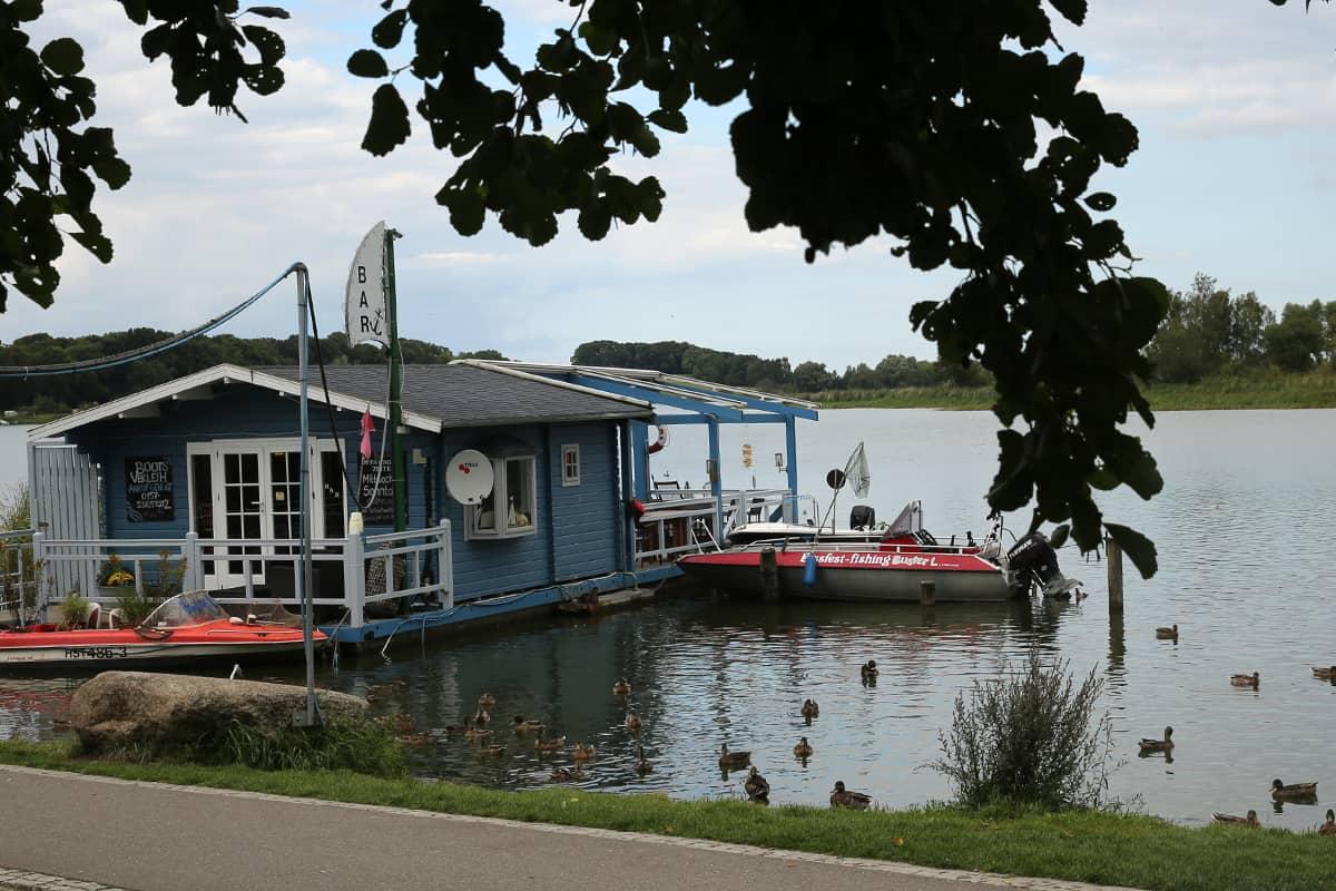 Hafen Wolgast mit Bootsverleih